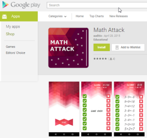 Math Attack on Google Play store